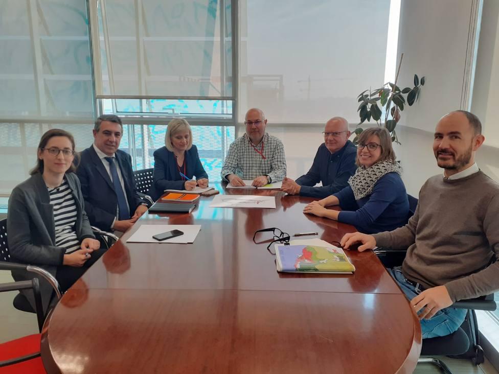 Reunión con los Directores Generales de Puertos, Transporte y Urbanismo.