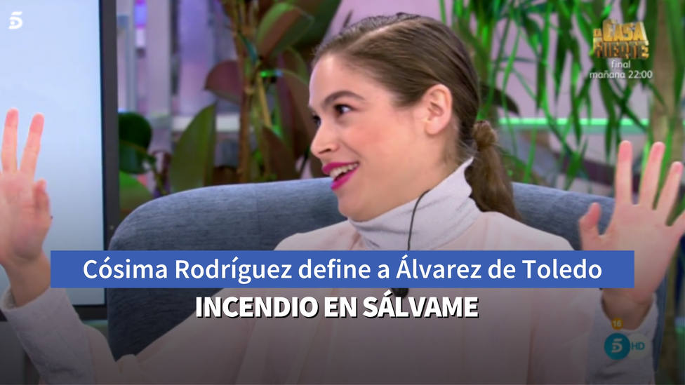 La hija de Pedro J Ramírez incendia Sálvame tras definir a Cayetana Álvarez de Toledo con dos palabras