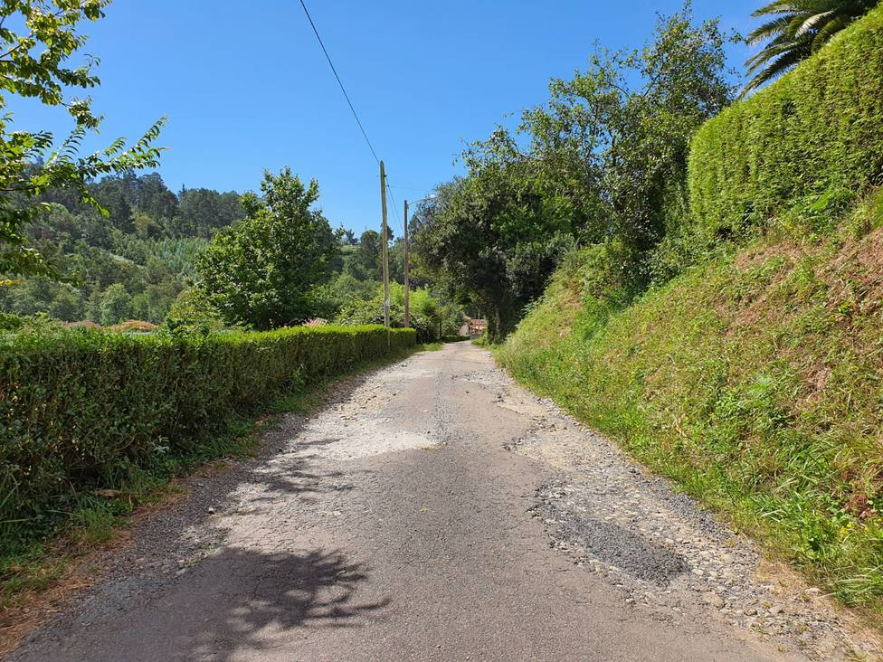 Estado actual del camino Batán - FOTO: Concello de Cabanas