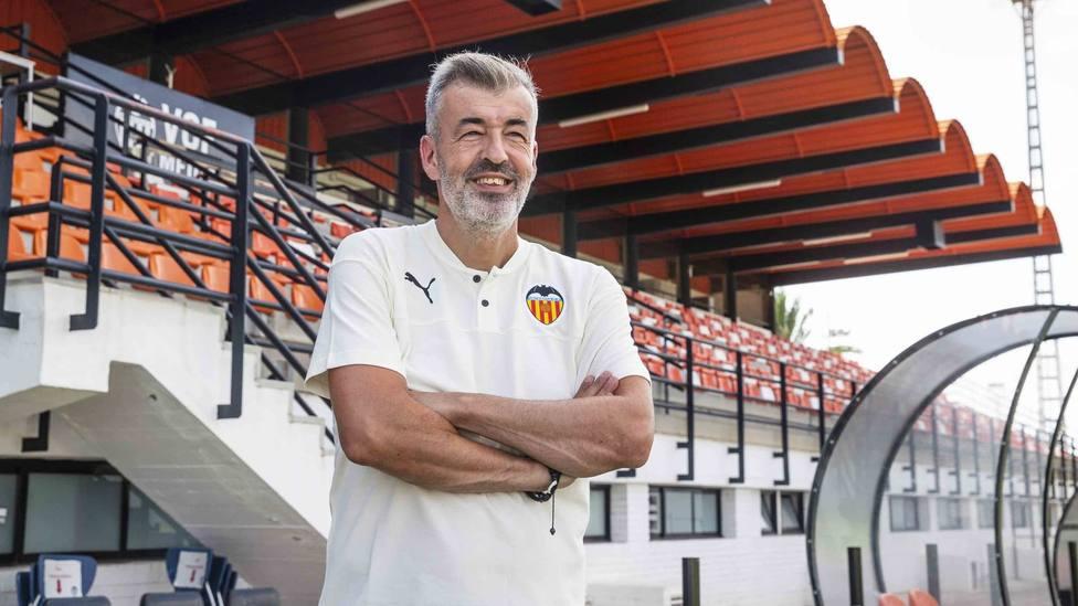 Óscar Fernández, en la ciudad deportiva de Paterna