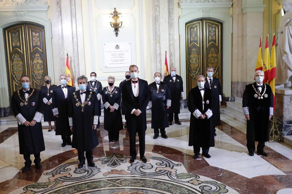 Felipe VI ha presidido la apertura del Año Judicial marcada este año por el coronavirus