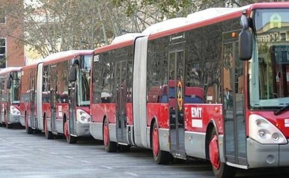 Paros en los autobuses de la EMT