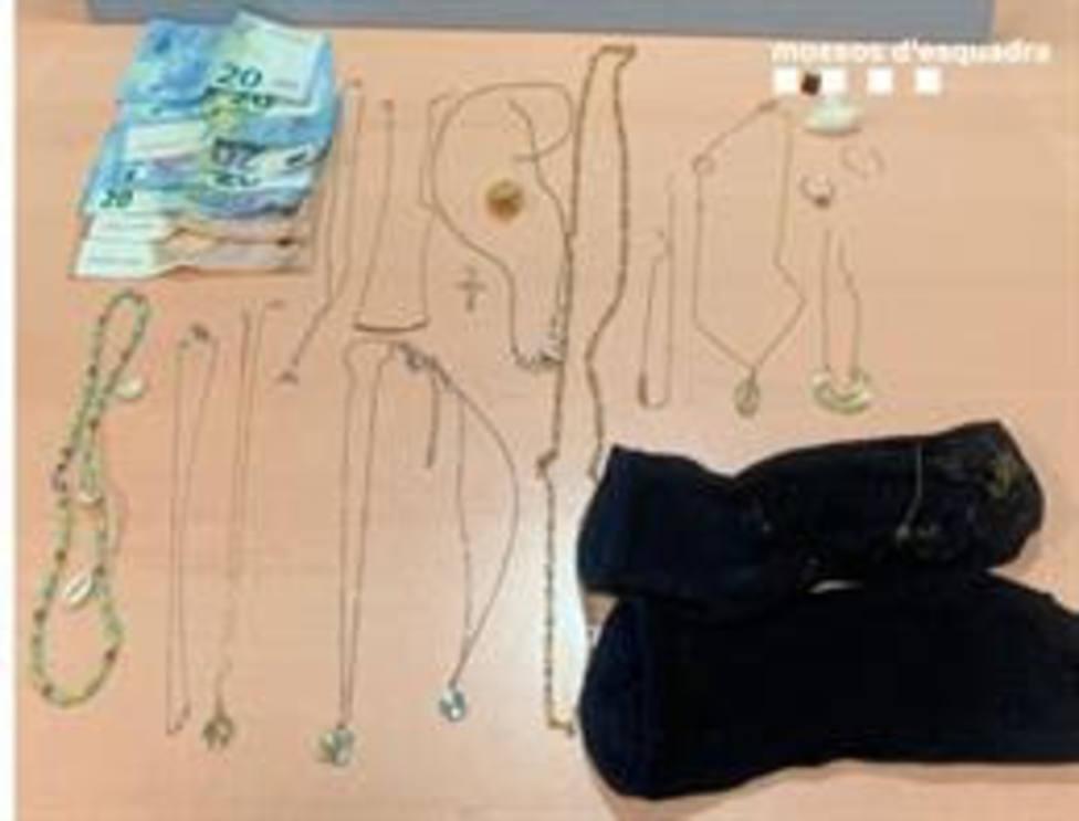 Joyas robadas por el hombre que ha ingresado en prisión