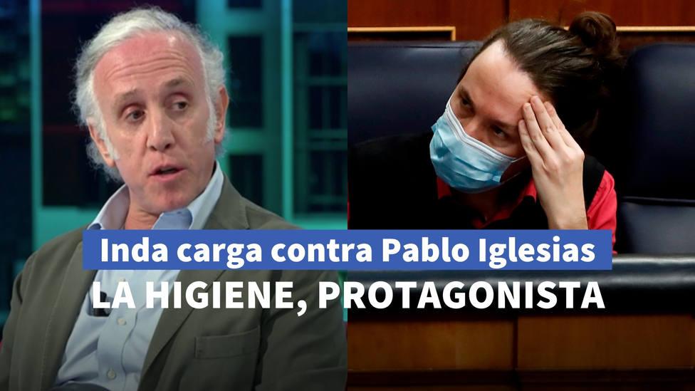El sorprendente mensaje de Eduardo Inda sobre la higiene personal de Pablo Iglesias en La Sexta