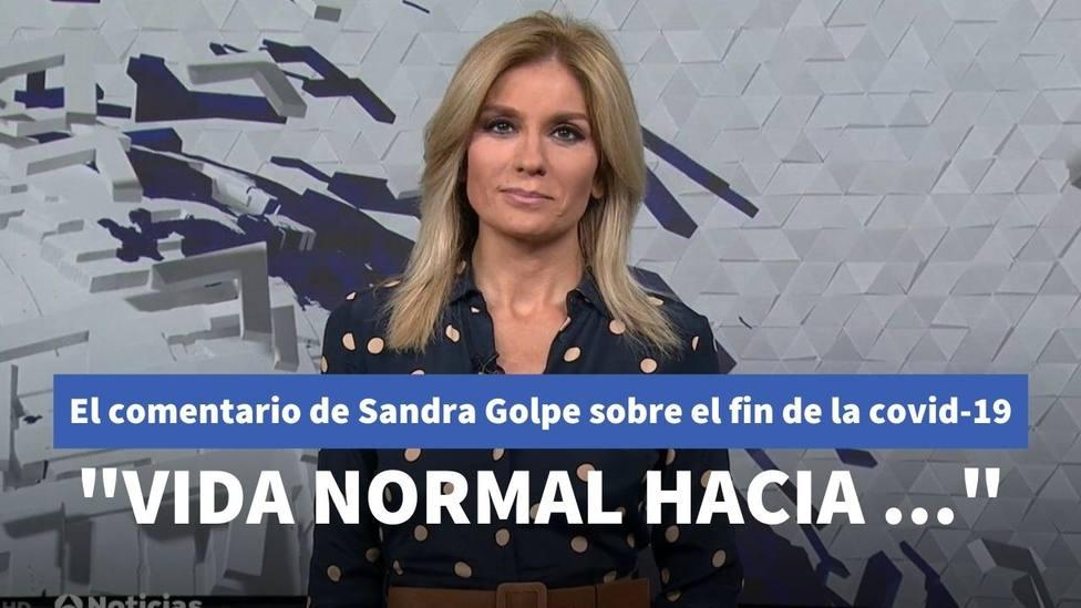 La polémica de Sandra Golpe con un científico por su particular teoría sobre el fin de la pandemia
