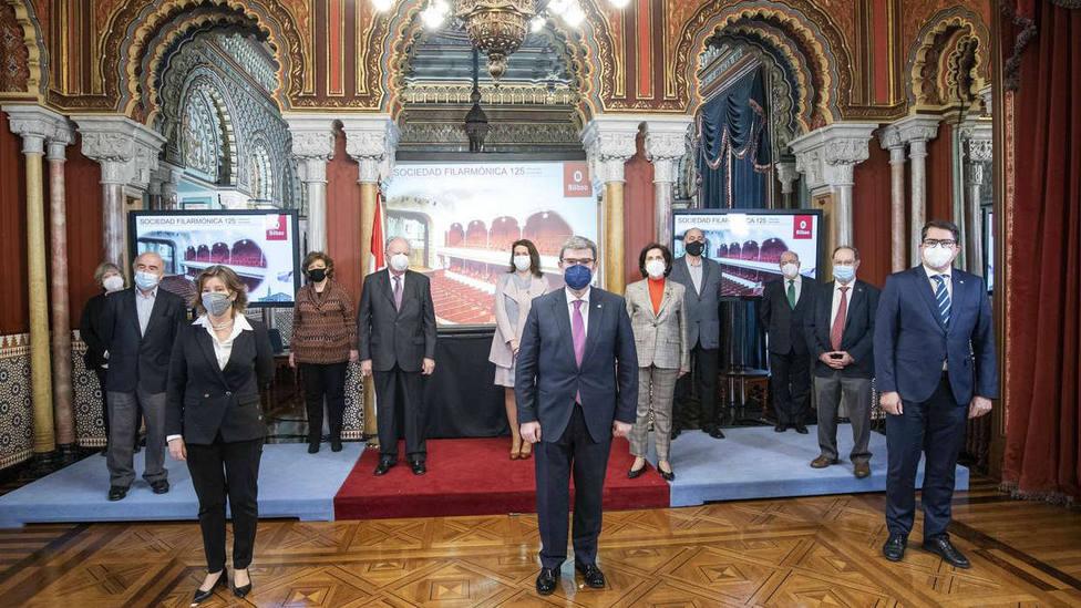 Juan Mari Aburto reconoce la labor de la Sociedad Filarmónica de Bilbao en su 125 aniversario