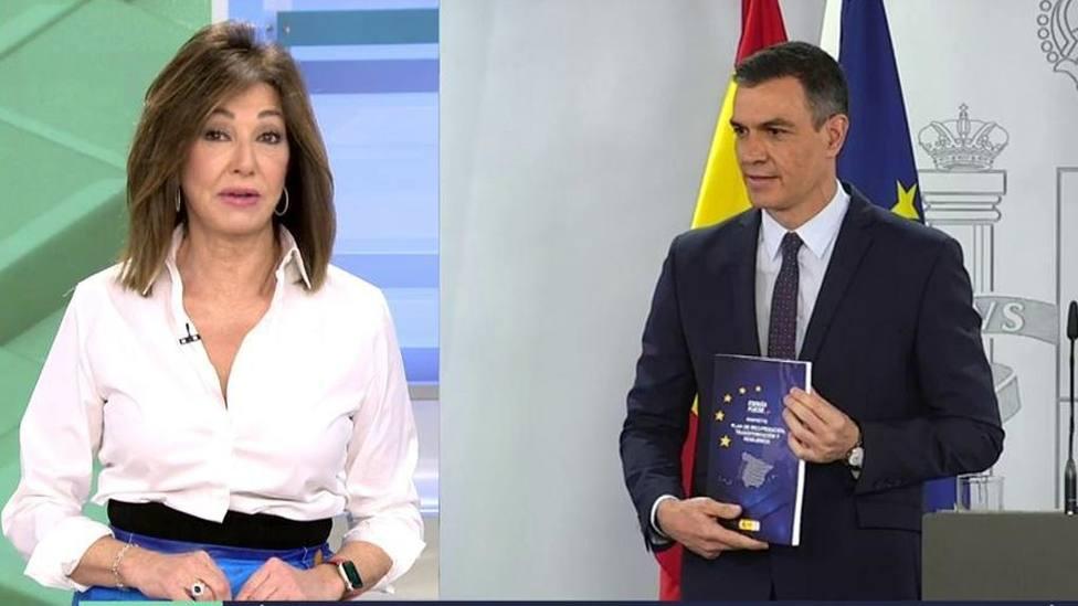 Ana Rosa Quintana resume en una palabra la gestión de Sánchez con las vacunas: es un mote