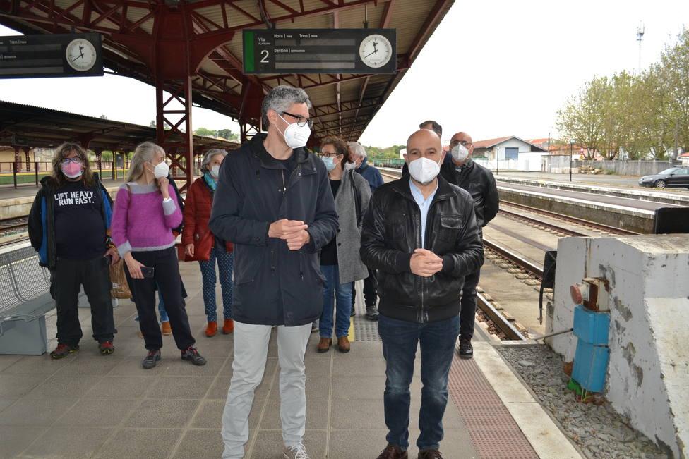 El diputado Néstor Rego e Iván Rivas, portavoz del BNG en Ferrol. FOTO: BNG