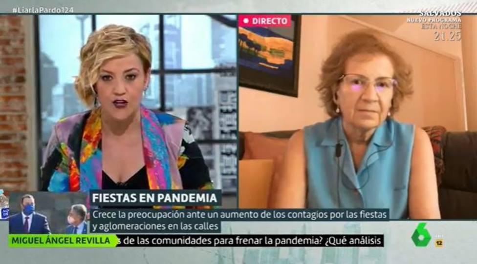 Margarita del Val aprovecha Liarla Pardo para mandar un aviso tras el estado de alarma: Por respeto