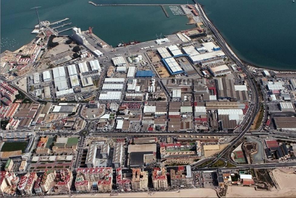 Zona Franca de Cádiz, vista aerea
