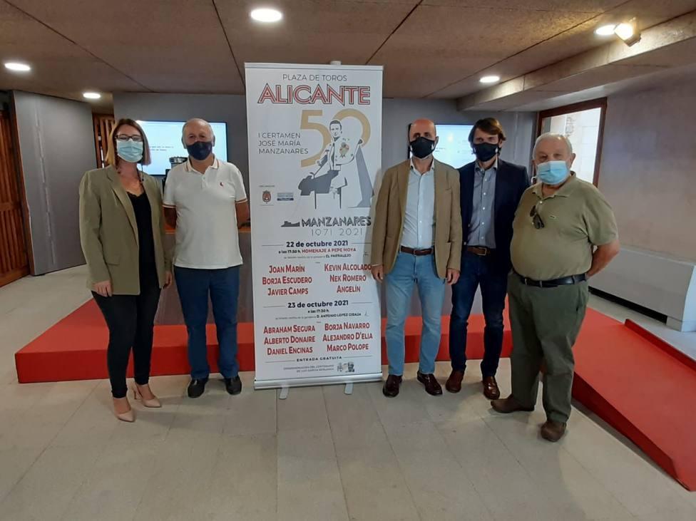 Ayuntamiento de Alicante y Diputación de Valencia se unen en el I Certamen Taurino José María Manzanares