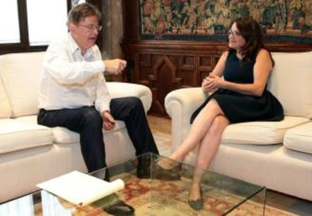 Puig y Oltra durante el encuentro