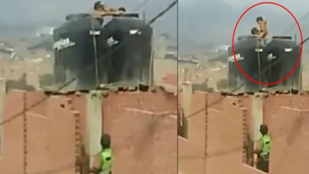 Detenida una madre en Lima por golpear y encerrar a sus hijas en un tanque de agua