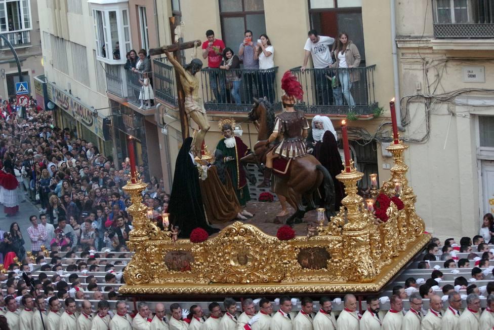 Siete cofradías protagonizan el Miércoles Santo en Málaga
