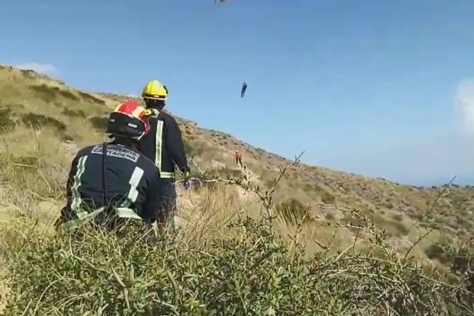 Rescatada una mujer herida al hacer senderismo en Cabo Tiñoso