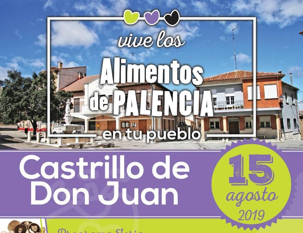 Cartel Castrillo de don Juan Vive los alimentos de Palencia