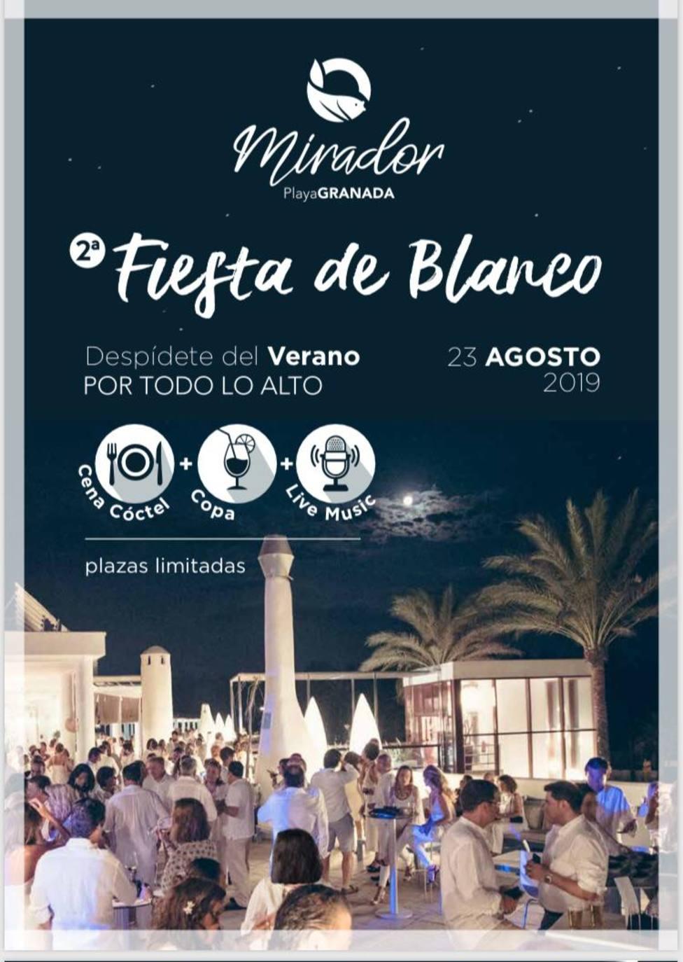 Fiesta de Blanco Mirador Playa Granada