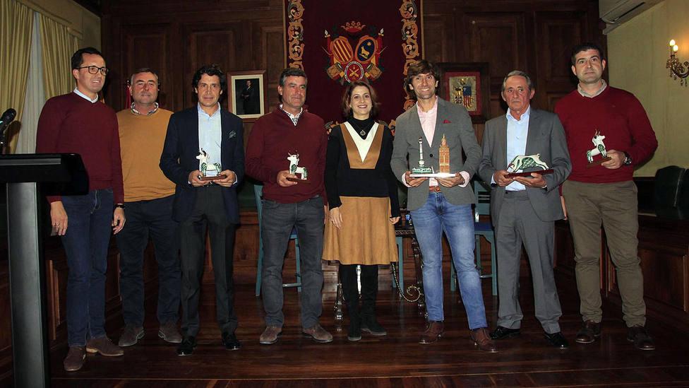 Foto de los premiado como triunfadores de la Feria del Ángel 2019 de Teruel