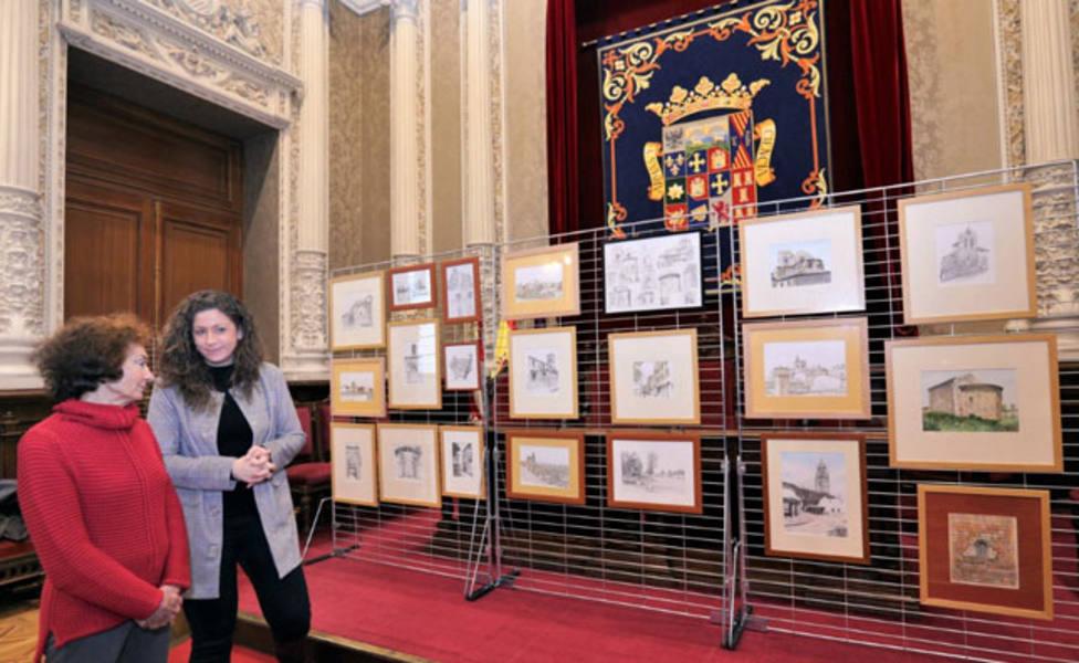 La viuda del pintor Julio del Val dona unaveintena de sus obras a la Diputación