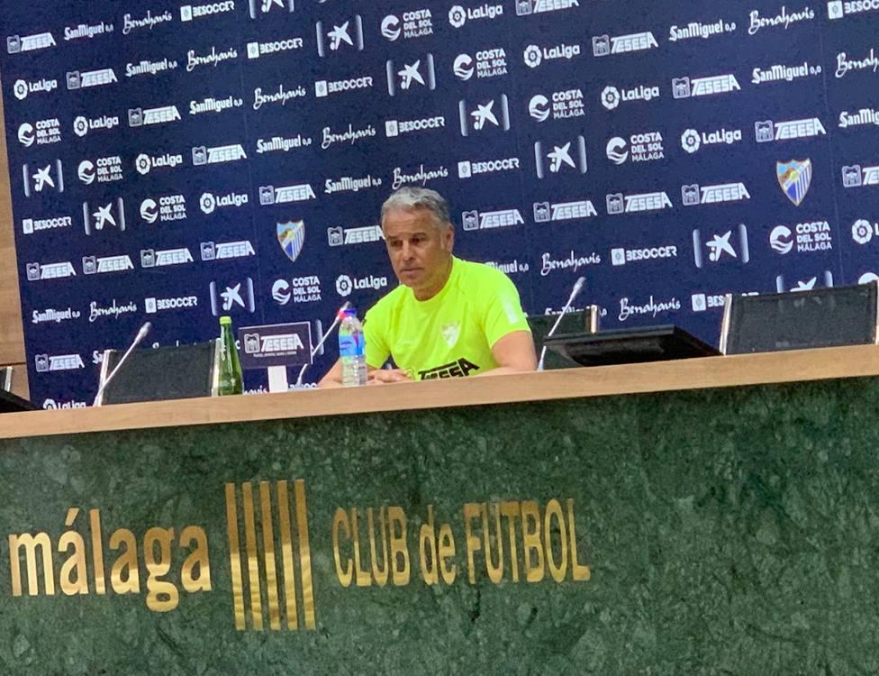 Sergio Pellicer en la conferencia de prensa previa al partido en Las Palmas.