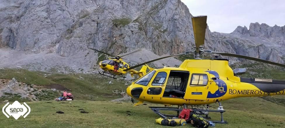 Rescate de montaña en Picos de Europa