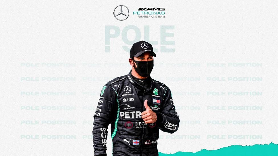 Hamilton saldrá desde la pole