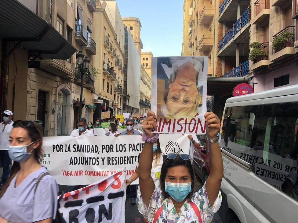 Huelga de los MIR valencianos