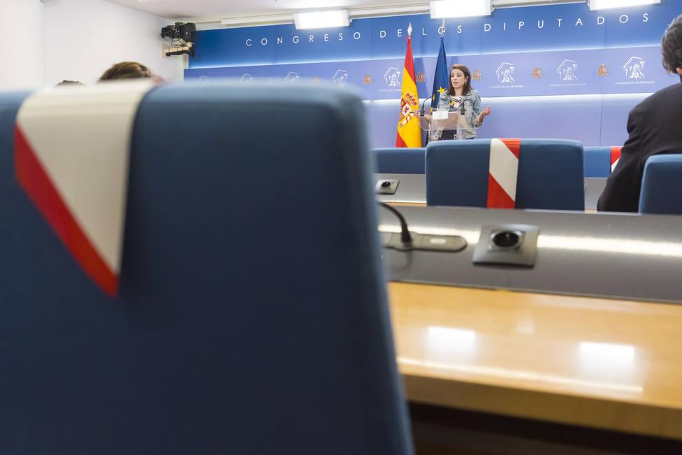 Ruedas de prensa tras la Junta de Portavoces del Congreso de los Diputados