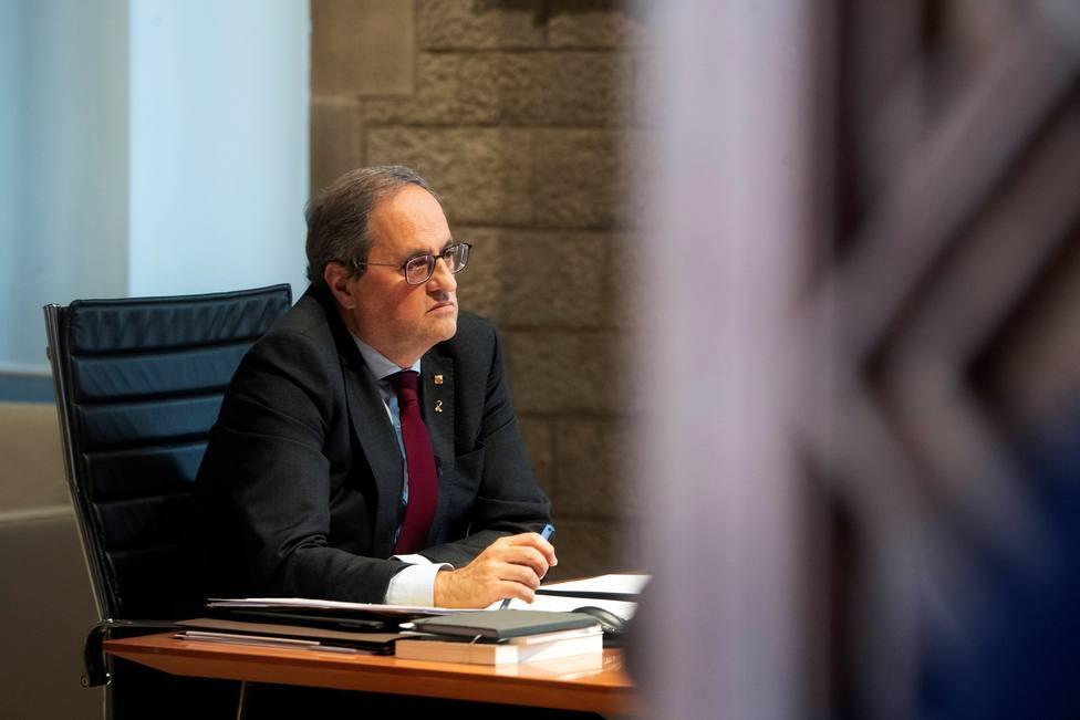 Quim Torra recibe la notificación de la sentencia y deja de ser presidente de la Generalitat
