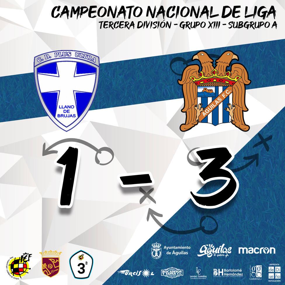 El Águilas FC gana 1-3 ante el Plus Ultra en un buen partido de los aguileños