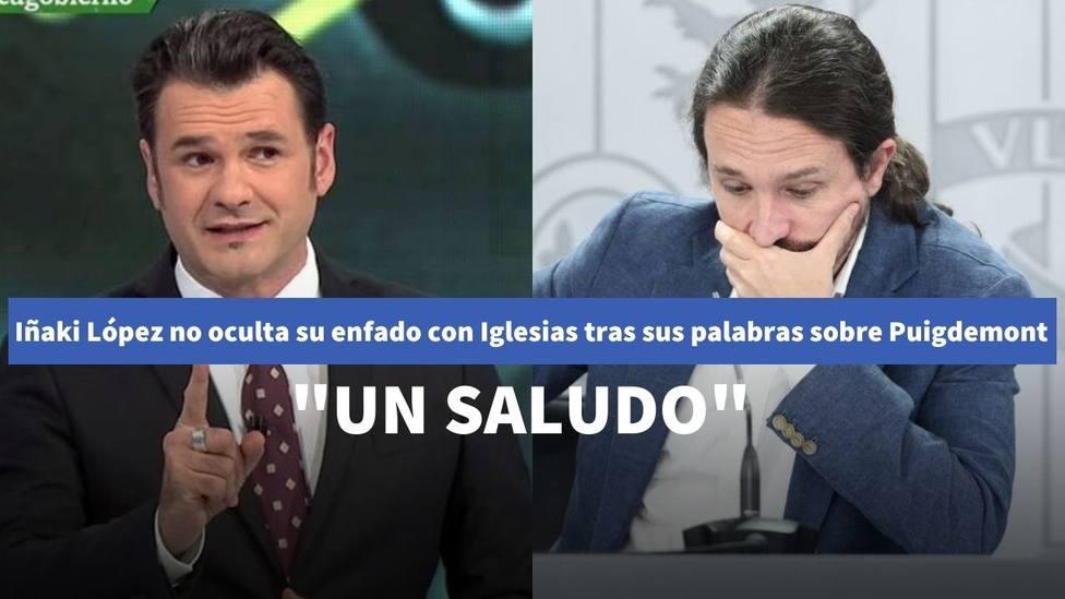 Iñaki López no oculta su enfado con Iglesias tras sus palabras sobre Puigdemont en 'Salvados'