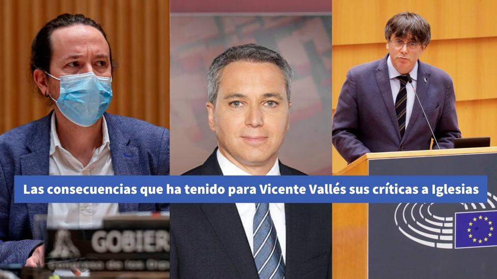 Las consecuencias que ha tenido para Vicente Vallés sus críticas a Iglesias en los últimos días