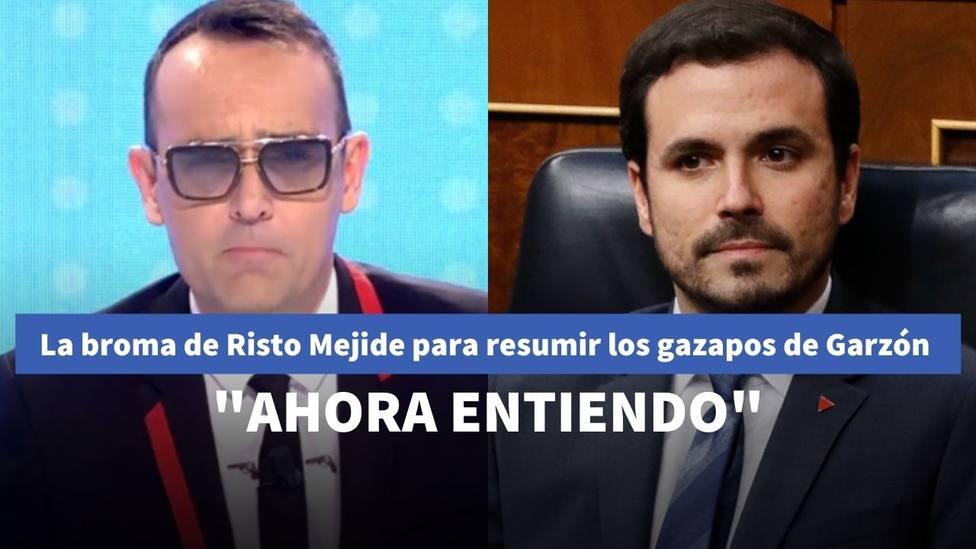 La broma de Risto Mejide sobre Alberto Garzón para resumir sus últimos gazapos: Ahora entiendo