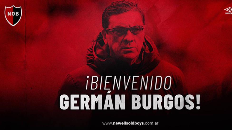 El Mono Burgos, nuevo entrenador de Newells