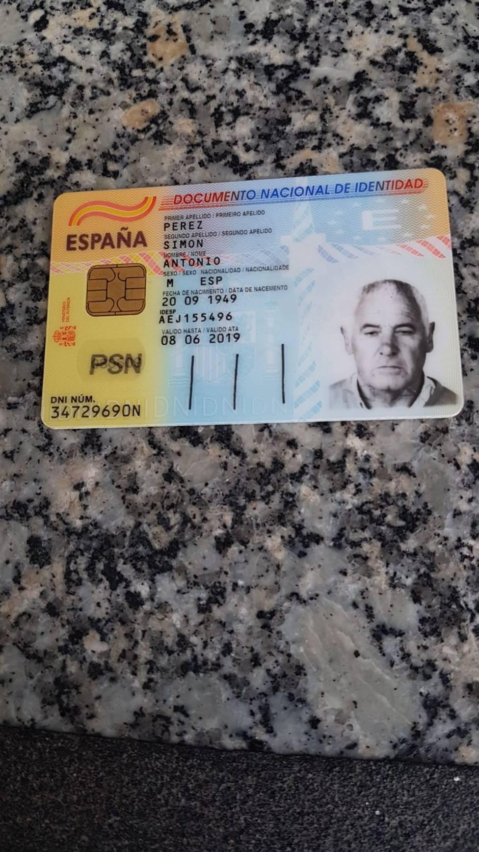 DNI del hombre desaparecido esta tarde en Medeiros