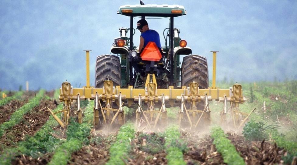 Agricultor en un tractor. Agencias