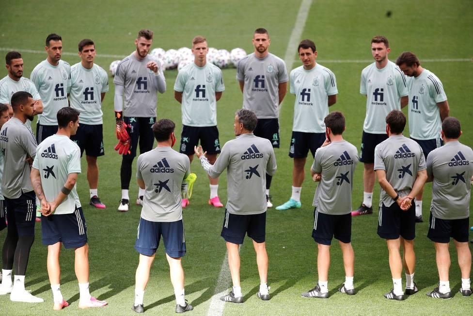 Entrenamiento de la selección española