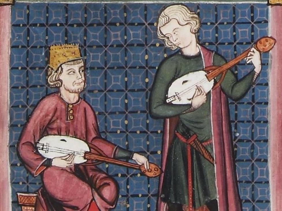 Detalle del Códice de Los Músicos de las Cantigas de Santa María /Patrimonio Nacional