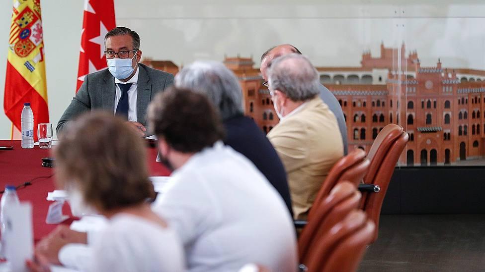 Enrique López presidiendo este miércoles el Consejo de Asuntos Taurinos de la Comunidad de Madrid