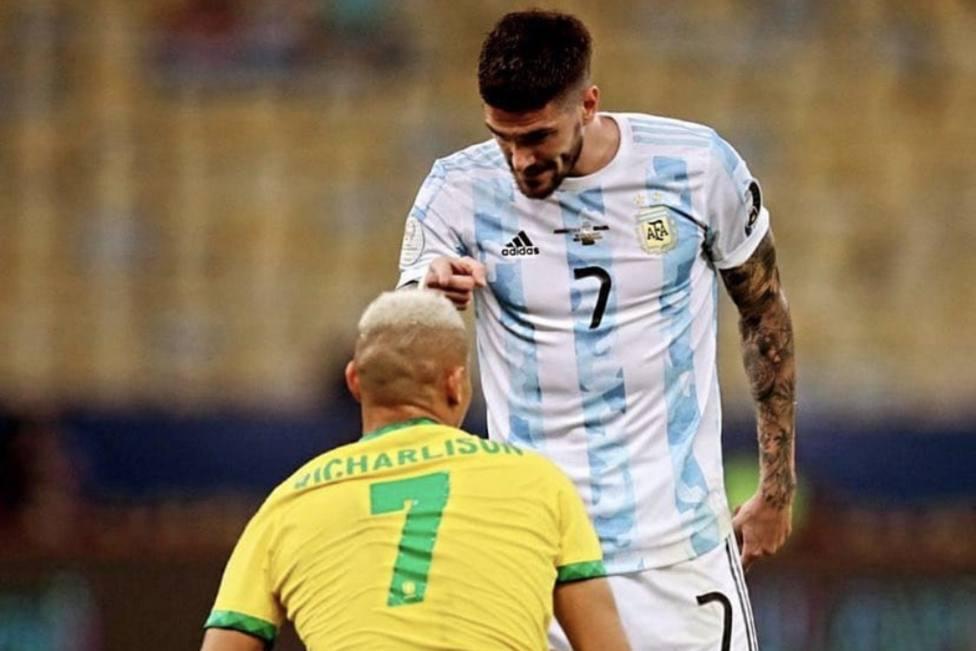 De Paul contesta a las provocaciones de Brasil tras la eliminación de Argentina en los Juegos Olímpicos