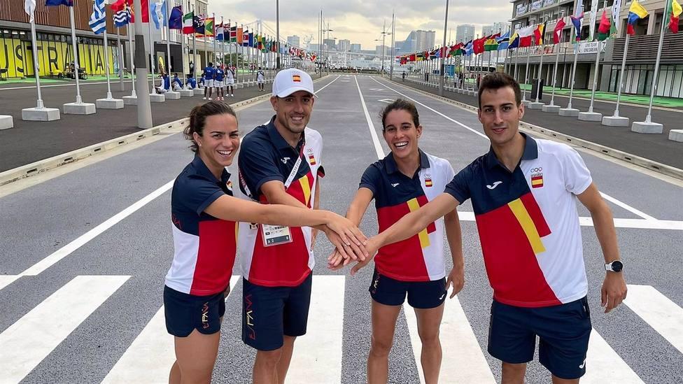 AV.- JJ.OO/Triatlón.- El relevo mixto español de triatlón, a las puertas del diploma olímpico