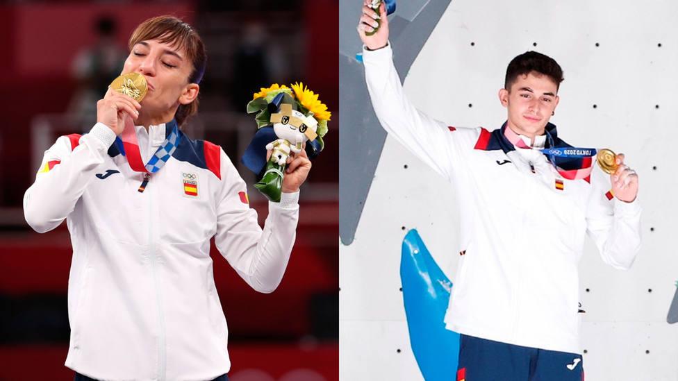 Sandra Sánchez y Alberto Ginés se colgaron este jueves la medalla de oro en los Juegos Olímpicos de Tokio