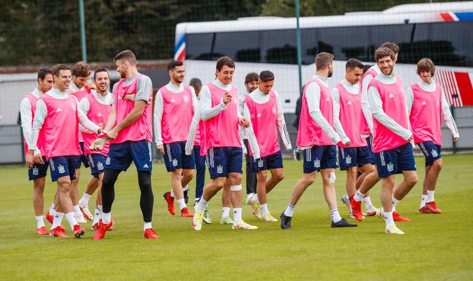 Imagen del entrenamiento de la Selección