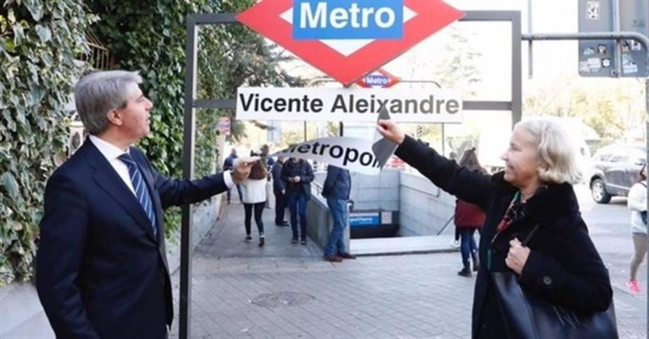 Las estaciones del Metro de Metropolitano y Atocha se llamarán Vicente Aleixandre y Estación del Arte