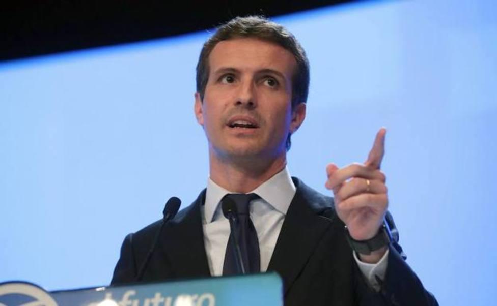 """Casado busca atraer a los votantes de Vox: """"No hay ninguna razón para no confiar en el PP"""""""