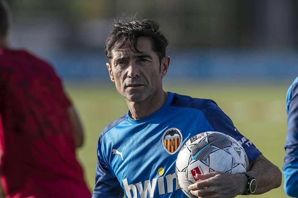 Marcelino, en un entrenamiento