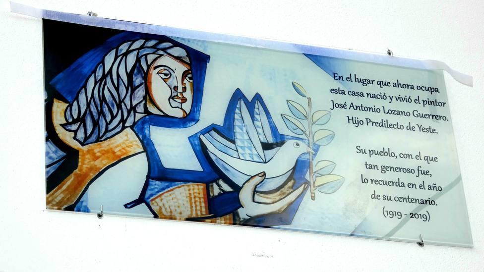 Placa homenaje a Jose Antonio Lozano en Yeste