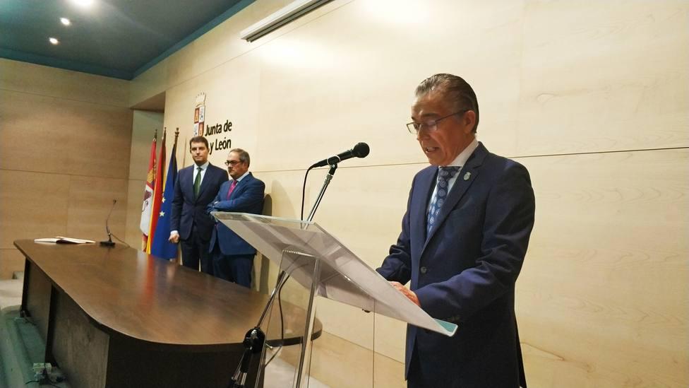 Roberto Sáiz en su toma de posesión como nuevo delegado Territorial de la Junta.
