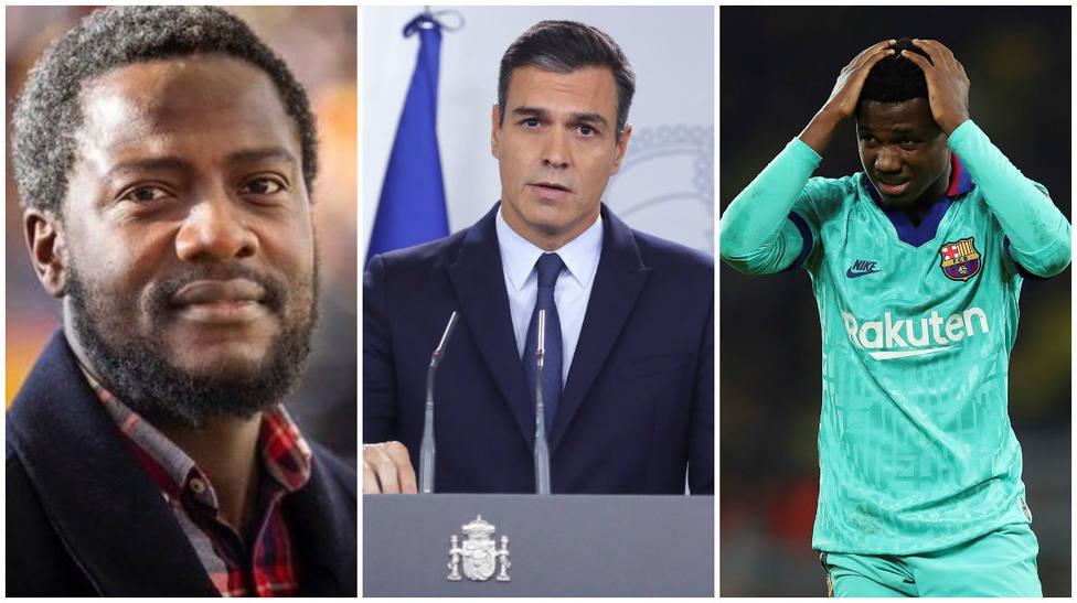 La indignación de Ndongo, el negro de Vox por lo que ha hecho el Gobierno con el jugador del Barça Ansu Fati