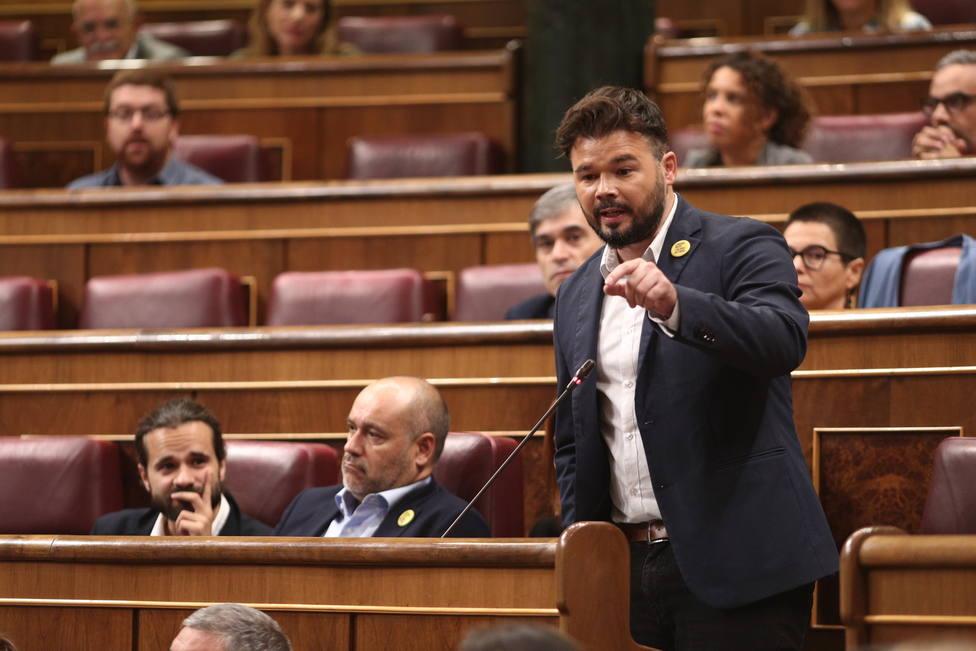 Rufián pide liderazgo en Cataluña y cuestiona los infiltrados: Al final son los de siempre y son de aquí